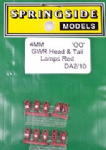 Springside DA2 (10) - OO Scale   GWR Head & Tail Lamps Red (10)